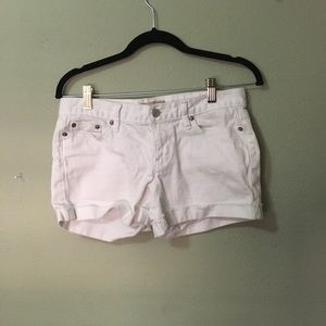 White banana republic jean shorts